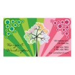 Quatre cartes de visite colorés de rayures cartes de visite professionnelles