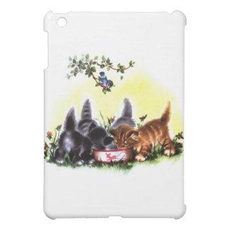 Quatre chatons régalant l'illustration coque pour iPad mini