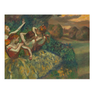 Quatre danseurs dégazent par la carte postale