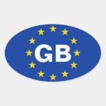 QUATRE drapeau d'Union européenne de la Autocollant Ovale
