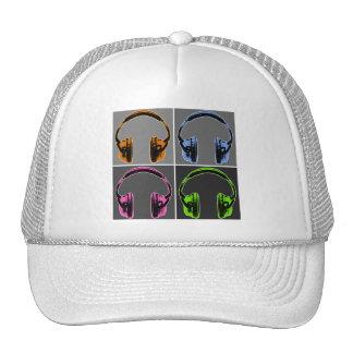 Quatre écouteurs d'art de bruit casquettes