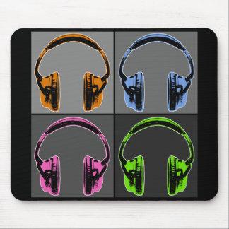 Quatre écouteurs d'art de bruit tapis de souris