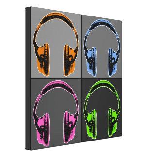 Quatre écouteurs d'art de bruit toile