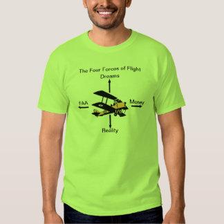 Quatre forces de chemise d'humeur d'aviation de t-shirts