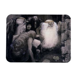 Quatre grands trolls magnet rectangulaire avec photo