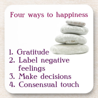 Quatre manières au bonheur dessous-de-verre