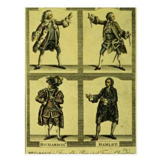 Quatre rôles tragiques cartes postales