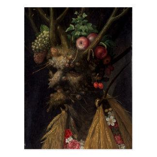 Quatre saisons dans l'une tête, c.1590 2 carte postale