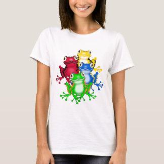 Quatre T-shirts et cadeaux de grenouilles
