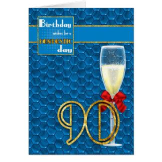 quatre-vingt-dixième anniversaire - carte d'annive