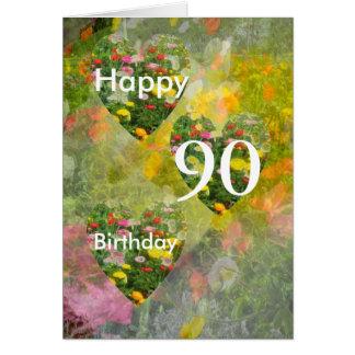 quatre-vingt-dixième Anniversaire Carte De Vœux