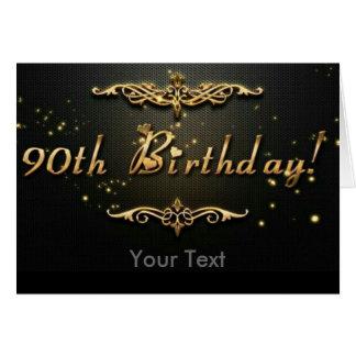 quatre-vingt-dixième Anniversaire ! Carte De Vœux