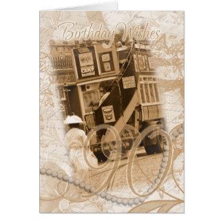 quatre-vingt-dixième anniversaire - cru, carte de vœux