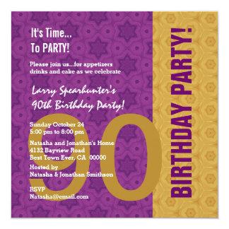 quatre-vingt-dixième Anniversaire drôle PAS Carton D'invitation 13,33 Cm