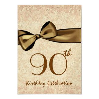 quatre-vingt-dixième Arc d'OR d'invitation de fête Carton D'invitation 12,7 Cm X 17,78 Cm