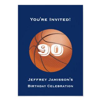 quatre-vingt-dixième Basket-ball d'invitation de Carton D'invitation 12,7 Cm X 17,78 Cm