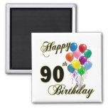 Quatre-vingt-dixième cadeaux d'anniversaire et hab aimants pour réfrigérateur