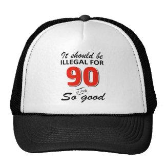 Quatre-vingt-dixième conceptions an drôles casquette