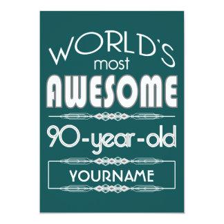quatre-vingt-dixième D'anniversaire des mondes Faire-parts