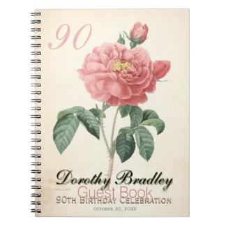 quatre-vingt-dixième Fête d'anniversaire - livre Carnet
