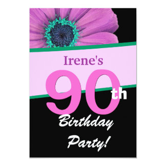 quatre-vingt-dixième Fête d'anniversaire pour sa Carton D'invitation 12,7 Cm X 17,78 Cm