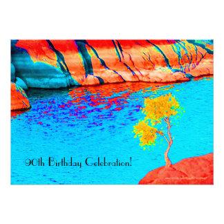 quatre-vingt-dixième Invitation de célébration d'a