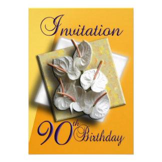 quatre-vingt-dixième invitation de fête d annivers