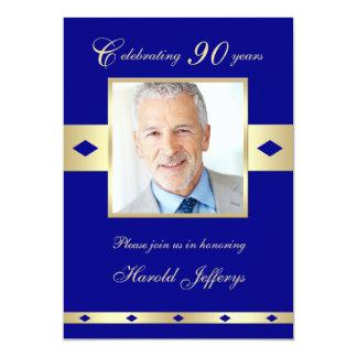 quatre-vingt-dixième Invitation de fête Carton D'invitation 12,7 Cm X 17,78 Cm