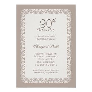 Quatre-vingt-dixième invitations de fête