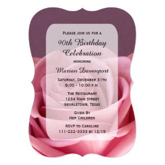 quatre-vingt-dixième L'invitation de fête Carton D'invitation 12,7 Cm X 17,78 Cm