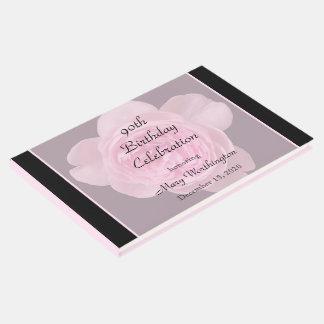 quatre-vingt-dixième Livre d'invité de rose de