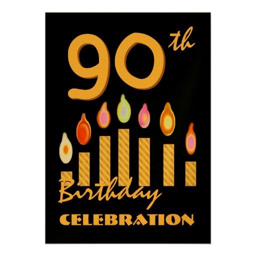quatre-vingt-dixième L'or de fête d'anniversaire m Bristol