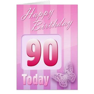 Quatre-vingt-dixième maman heureuse de grand-tante carte de vœux
