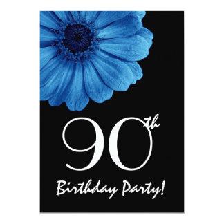 quatre-vingt-dixième Marguerite bleue de modèle Carton D'invitation 12,7 Cm X 17,78 Cm