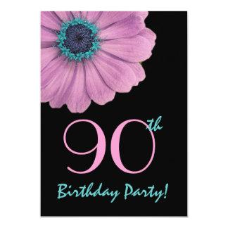 quatre-vingt-dixième Modèle d'anniversaire - Carton D'invitation 12,7 Cm X 17,78 Cm