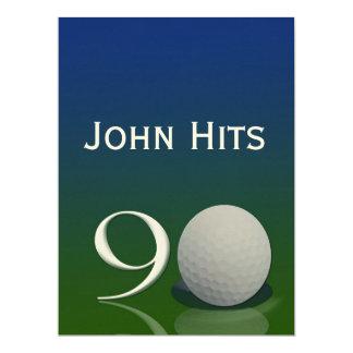 quatre-vingt-dixième Modèle d'invitation de golf Carton D'invitation 16,51 Cm X 22,22 Cm