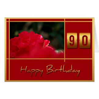 quatre-vingt-dixième Rhododendron d'anniversaire + Carte De Vœux