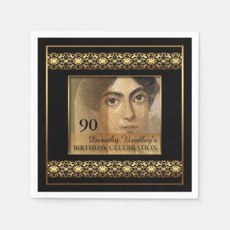 quatre-vingt-dixième Serviettes de papier de photo