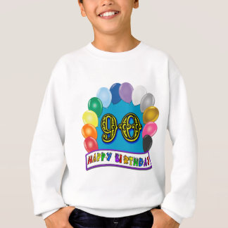 Quatre-vingt-dixième T-shirt heureux