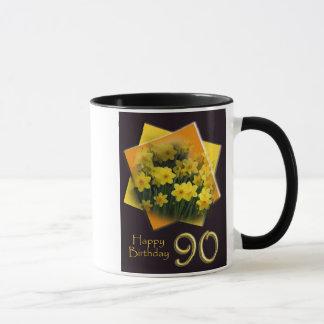 quatre-vingt-dixième Tasse de joyeux anniversaire