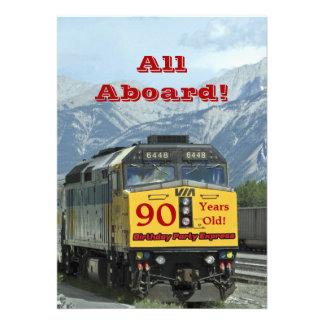 quatre-vingt-dixième Train de chemin de fer d invi