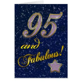 quatre-vingt-quinzième anniversaire pour quelqu'un cartes