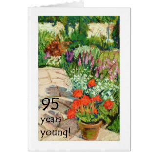 quatre-vingt-quinzième Carte d'anniversaire -