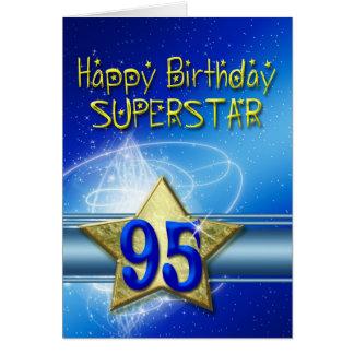 quatre-vingt-quinzième Carte d'anniversaire pour