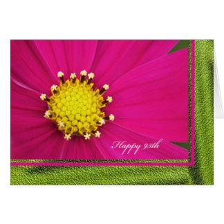 Quatre-vingt-quinzième carte de voeux heureuse