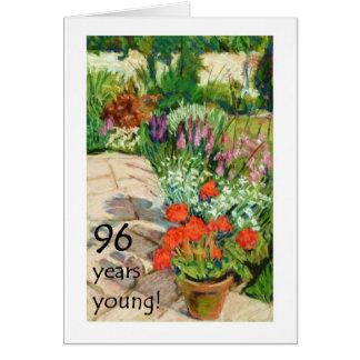 quatre-vingt-seizième Carte d'anniversaire -