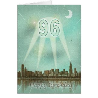quatre-vingt-seizième Carte d'anniversaire avec