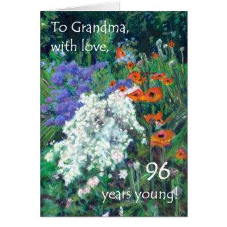 quatre-vingt-seizième Carte d'anniversaire pour la