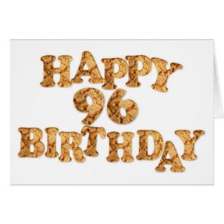 quatre-vingt-seizième Carte d'anniversaire pour un