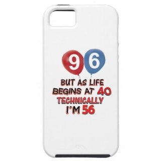 quatre-vingt-seizième conceptions d anniversaire étuis iPhone 5